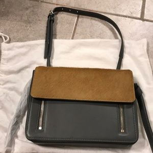 NEW Worth New York calf hair and leather bag